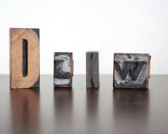 Antique Wooden Letterpress Letters