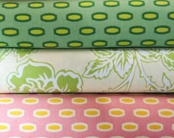 Set of 5, Free Spirit fabrics, Heather Bailey, your choice of cut (fat quarter, half yard, or yard cut)