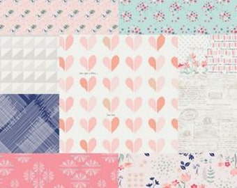 Queen Quilt, King Quilt, Rag Quilt, YOU CHOOSE SIZE, Paperie fabrics, shabby chic cottage, comfy cozy handmade bedding