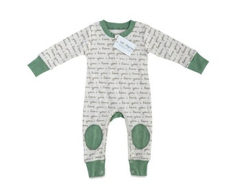 Organic I Love You Infant Romper