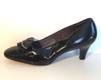 Black Heels with Ruffle Size 8