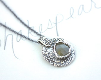 sapphire necklace . inspirational always necklace . sapphire and silver necklace . ready to ship