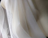 2 YDS IVORY Soft Tulle English Net for Bridal, Veils, Skirts, Costumes