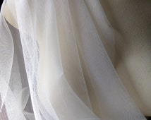 2 YDS IVORY Soft Tulle English Net for Bridal, Gowns, Veils, Costumes, Garters, Hats