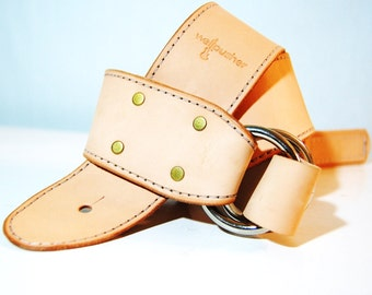 Adjustable Natural Leather guitar strap for musicians **free monogramming**