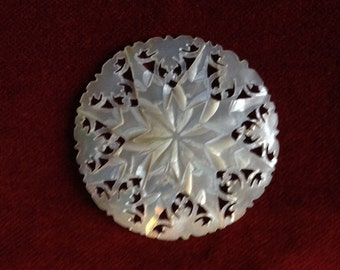 Round  carved snowflake