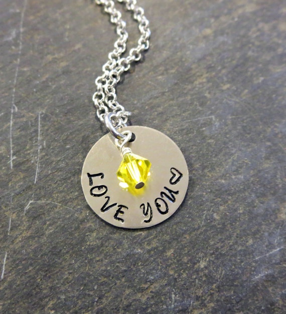 Jewelry that give back love you necklace birthstone necklace