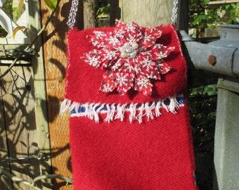 Handwoven Wool Christmas Purse