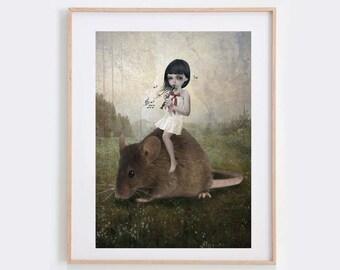 Fairytale Art - Surreal Art Print - Wall Decor - Pied Piper