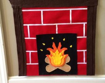 Felt fireplace