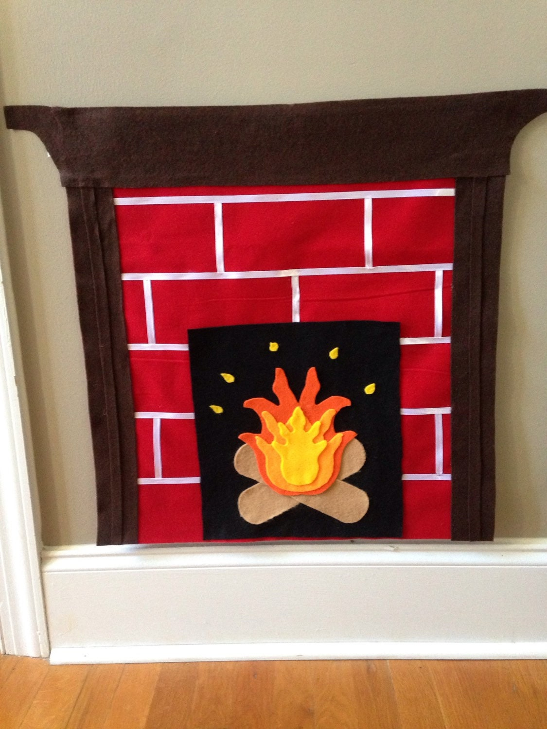 felt fireplace interactive