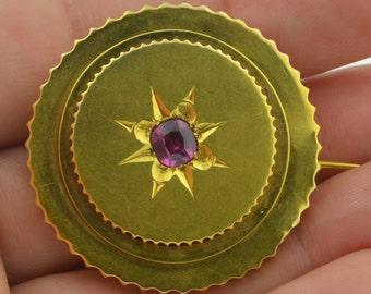 Victorian Bloomed 14K Paste Locket Pendant Brooch 10 Grams