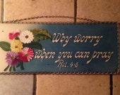 Chain Framed Glass Plaque