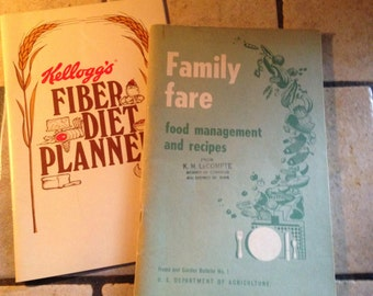 Fiber Diet Planner and Family Fare Booklets