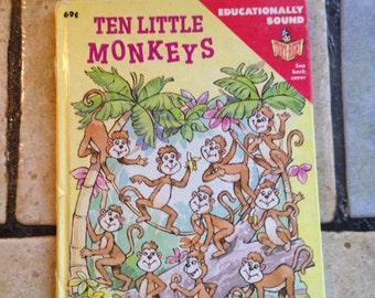1988 Ten Little Monkeys Junior Elf Children's Book