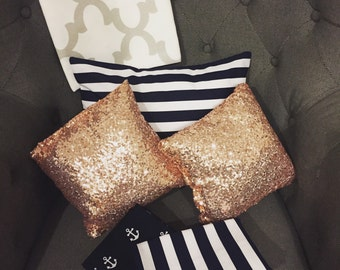 Sequin Square Throw Pillow