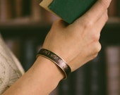 Lord Byron Skinny Literary Cuff Bracelet - Writer Jewelry - Empty My Mind - Sister or Best Friend Gift Idea