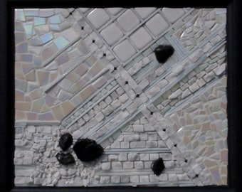In Search of Solitude, original mosaic wall hanging