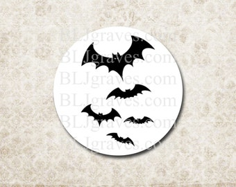 Halloween Bats Batman Stickers Party Favor Treat Bag Stickers Envelope Seals  SH011