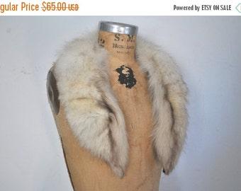 SALE Genuine Fox Fur Collar / bridal wedding