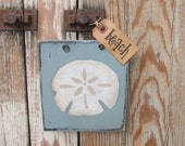 Nautical Beach Coastal Sand Dollar Wooden Sign Plaque GCC6283