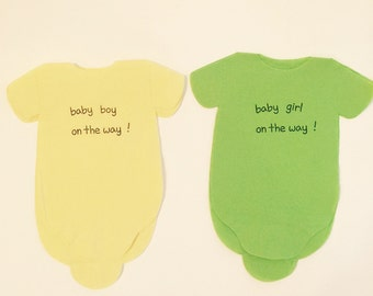 Baby shower napkins!  Baby romper shaped or bib shaped napkins for your special party!
