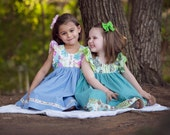 Springtime Floral Collection Dress by Outtahand Creations Girls size 2t thru 6yrs