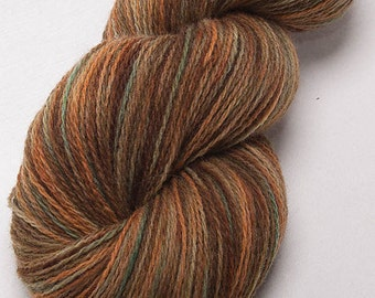 Hand dyed yarn, Scottish Shetland,  handpainted 2ply,  100% pure Shetland wool, Indie dyed yarn, colour; Dapple