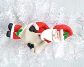 Santa with List Ornament - Personalized Santa Ornament - Nice List - Naughty List - Santa Collectible - Santa Collector - 813