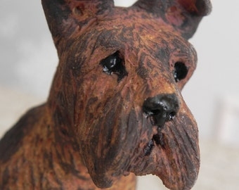 airedale, lakeland, wire haired, cairn, wheatland terrier sculpture statue figurine