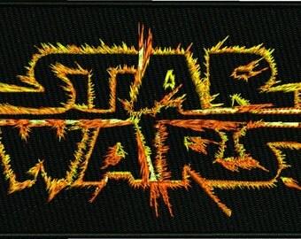 Machine embroidery Star Wars on fire design