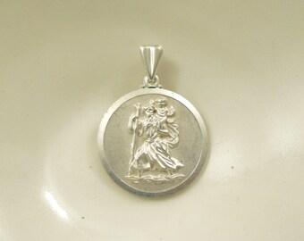 Vintage silver St Christopher
