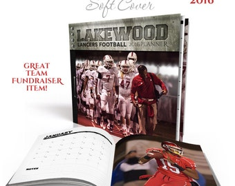 Photo Book Soft Cover (8x8) Monthly Sports Planner Set 2016-17 - Team Spirit - Photoshop Templates for Photographers - 20 Pages & Cover.