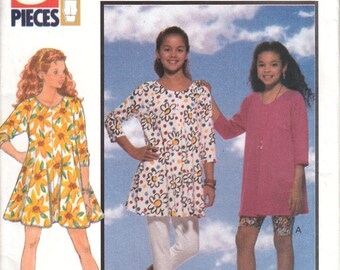 UNCUT Girls' Dress, Tunic, Shorts, Leggings Size 7-8-10 Butterick sewing pattern 6083