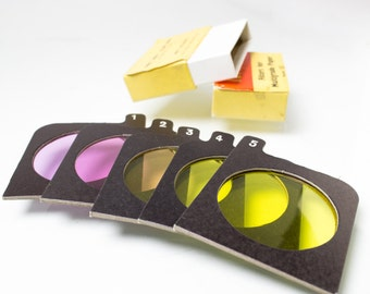 Vintage Ilford Filters for Multigrade Paper Cinematic Decor