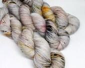 Hand Dyed Speckled Sock Yarn - SW Sock 80/20 - Superwash Merino Nylon - 400 yards - Holy Crow