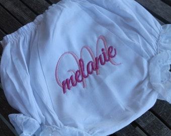 Bloomers Letter and Name Personalized Monogram Baby Girl Embroidered Diaper Covers Baby Shower Gift