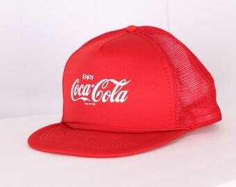 vintage 1980s Coca Cola mesh snap back hat new old deadstock Coke