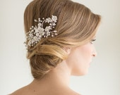 Wedding Hair Comb, Floral Bridal Comb, Wedding Hair Accessory