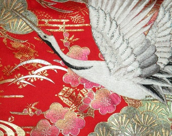 10inch Silk Clutch/Bag/Purse/Long Island Bride NY Wedding Gift/Embroidered Crane Kimono/Red/Gold/Black/Silver/Plum Blossom/Shrug/Wrap/Shawl