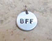Small Personalized Custom Hand Stamped Charm Tags for your Project  BFF Date Initials or Symbols can be Stamped for you Custom Need Add On