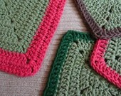 Kitchen Gift Set with Sage, 1 Rectangle Kitchen Towel, 3 Square Washcloths, US Shipping Included