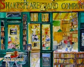 Paris Post Card - Shakespeare & Company - Print From Original Watercolor