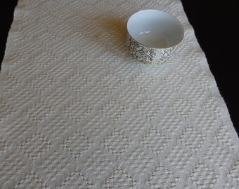 Handwoven Organic Cotton Lace Table Runner