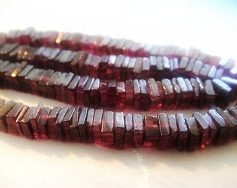 Garnet Heishi Beads, Natural Gemstones, Brides, Wholesale Gems, 4-5mm,