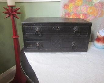 Antique Dresser Box with Original Hardware