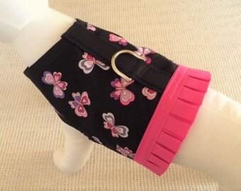Black Butterfly Dog Harness Vest