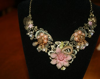 Fly to My Garden/ Statement Necklace
