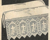 Altar Cloth Lace Crochet PATTERN 5901 Beautiful Crosses in Filet crochet taken from 1959 Workbasket changed in to PDF instant download