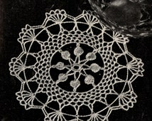 Doily Crochet PATTERN 7817 Round 5 inch Doily Pattern with instructions on how to Starch it In PDF Format Instant Download